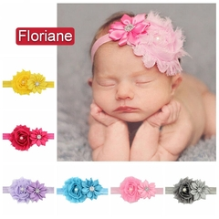 Floriane Double Flower Lace Diamond Lovely Baby Band L069 43#