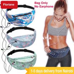 Floriane Waterproof Fanny Pack Bagpacks No Earphone Fashionable Printed 14 Color Waist Bag Chest Bag black 60*45