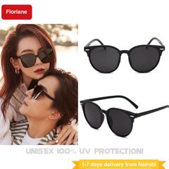 Floriane 2Pcs Unisex Polarized Sunglasses Couple Women Men Classic Driver Sunglasses Sun Glasses black