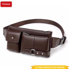 Floriane Men Fanny packs Women Handbags Bagpacks Waist Chest Bags Multifunctional Outdoor Sports Bag BROWN