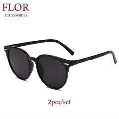 Floriane Sunglasses 2Pcs Unisex Polarized Couple Women Men Classic Driver Sunglasses Sun Glasses black
