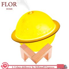 FLoriane Diffuser Humidifier 3D Moon Lamp Light LED Aroma USB Rechargeable Night Mist Purifier Adjustable Color as picture