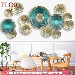 FLoriane PVC 3D Wall Sticker Waterproof Removable Round Luxury Wall Art Home Decor Art Wallpaper as picture 60*90cm