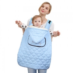 The baby goes out with a cloak to keep warm baby carriers baby clothes  duvet cyan 66*64cm