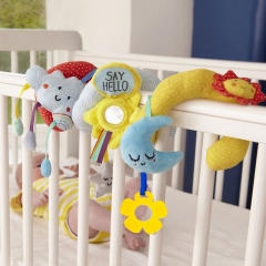 Baby stuff Star Moon Bed Round Trolley Pendant Cloud Sun Bed Hanging Baby Toy Bed Hanging Rattle Photo Color 50*34
