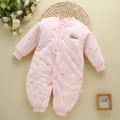 Baby clothes Antarctic cotton newborn thickening clothes baby infants jumpsuit climbing clothes pink 73