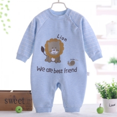 Newborn jumpsuit long sleeve pajamas children's cotton romper baby clothes A 73cm(6-9M)