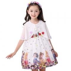 Girls dresses chiffon cotton fashion children frozen snow white dress two-piece skirt image color 120cm