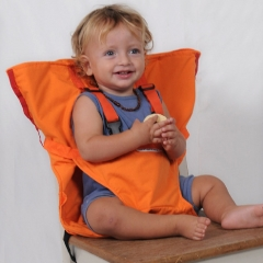 Portable baby chair seat baby safety harness color dining chair bag baby care stuff orange 16*6*15cm