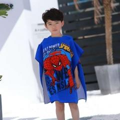 Children's cartoon bathrobe beach towel boys and girls baby kids print can wear bath towels B2 120*60CM