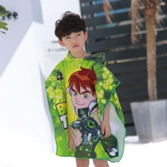 Children's cartoon bathrobe beach towel boys and girls baby kids print can wear bath towels B3 120*60CM