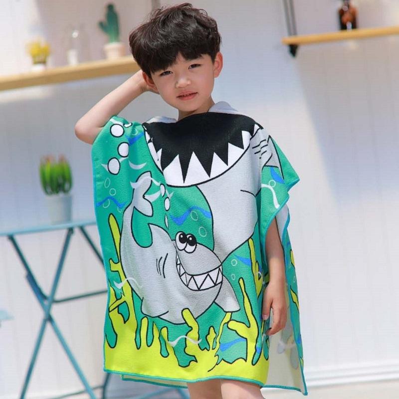 2fdbff7fe Children s cartoon bathrobe beach towel boys and girls baby kids ...