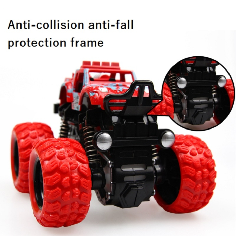 Inertia four-wheel drive off-road vehicle boy model car kids toys 2-3-4-5 years old baby car red 9*8.5*7.5cm 3
