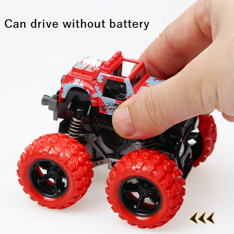 Inertia four-wheel drive off-road vehicle boy model car kids toys 2-3-4-5 years old baby car red 9*8.5*7.5cm 2