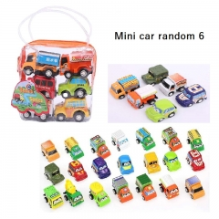 Child toy baby toy car baby mini pull back car inertia engineering car kids toys A 4.5*3*3CM*6