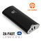 JPC301 12000mAh Power Bank Power Mate Mobile Power Portable Charger Battery Black