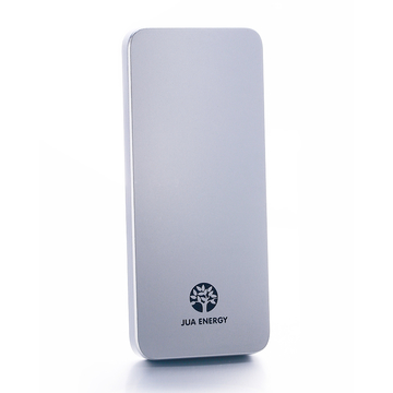 E1 -Super Slim Polymer Power Bank 5000mAh - Silver + Pocket Gift