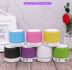 Mini Colorful Bluetooth Aduio With LED Rechargeable Support BT/USB/TF/AUX 5w BT1 white 58*58*61mm