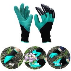 Waterproof Gardening Genie Gloves with Claws for Digging Raking Both Hands