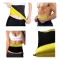 Thermo Sweat Shapers Slimming Belt Sauna Waist Cincher Girdle for Weight Loss Women and Men Black & Yellow L