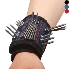 Magnetic Wristband with Strong Magnet for Holding Screws Nails Best Tool Gift for DIY Handyman Black One Size
