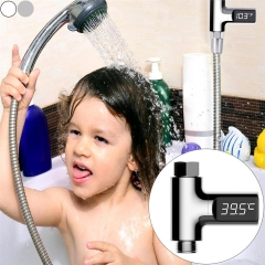 Home Water Shower Thermometer Battery Free Water Temperature Meter Monitor for Baby Care White One Size