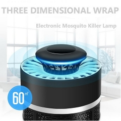 Mosquito Killer LED Lamp USB Power Electronic Bug Zapper Repellent Trap Light White 12cm 5w