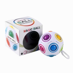 Compact Magic Ball for Stress Relieve Puzzle Game with Strap White One Size