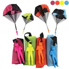 Hand Throwing Soldier Paratrooper Style Parachute Toy Outdoor Sports Children Educational Yellow One Size