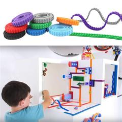 Kit Accessories Building Block Tape 1.6*92cm Bendable Flexible Soft Tape Plate for Building Block Shown as Picture One Pack