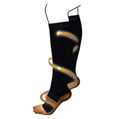 Anti-Fatigue Compression Socks Great For Travel Varicose Veins Women And Men's Miracle Copper Socks Black one size