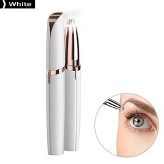 Lipstick Design Electronic Eyebrow Trimmer Handheld Automatic Eyebrow Knife Brows Cleaning Dresser White One Size