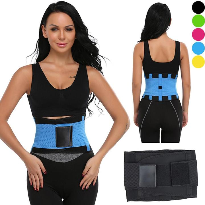 Unisex Hot Sport Waist Trainer Neoprene Belt Tummy Slimming Shaper Fat Burner Power Belt black M