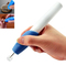 DIY Electric Cordless Engraving Pen Written Carve Tool Kit for Metal Wood Glass Plastic Label Tools White & Blue One Size