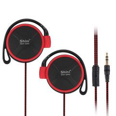 3.5mm Sport Headset Ear Hook Stereo Earphone Headphone for Cellphone black
