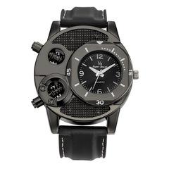 Fashion Men's Thin Silica Gel Students Sports Quartz Watch black one size