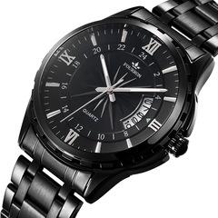 Quartz Wristwatches Luxury Business Watch black one size