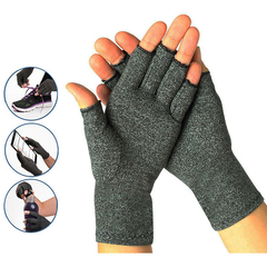 Compression Fingerless Gloves Provide Arthritic Hand Joint Pain Relief Gray S