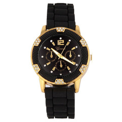 Fashion Luxury Diamond Women Watch Quartz Watches Simple Style black one size