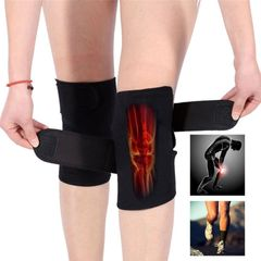 Self-Heating Knee Support Pads Tourmaline Magnetic Therapy Orthopedic Knee Pad Knee Massager Black one size