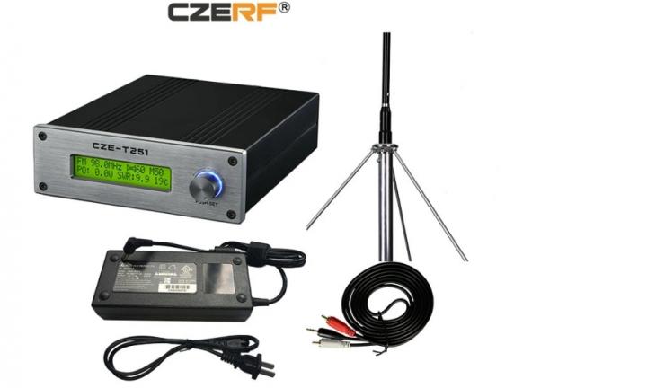 KiliFun Collection CZERF BRAND 25W  FM Transmitter with 1/2 Dipole wave GP aluminum antenna kits