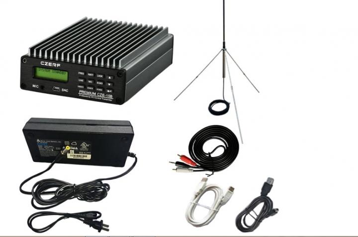 KiliFun Collection CZERF BRAND 15W Broadcast Radio FM Transmitter with Tube Amplifier Kit