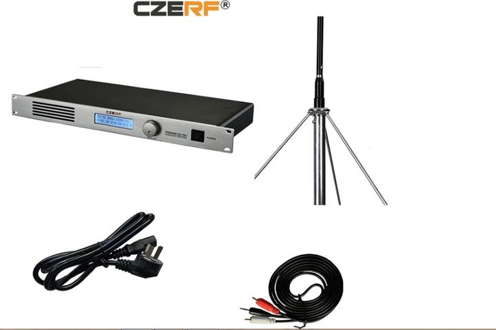 KiliFun Collection CZERF BRAND 50w FM Transmitter 87-108MHz with 1/2 wave GP aluminum antenna