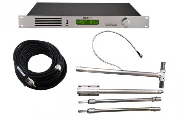 KiliFun Collection CZERF BRAND CZE-T2001 200w fm transmitter 1U mini radio XLR connector Support MP3
