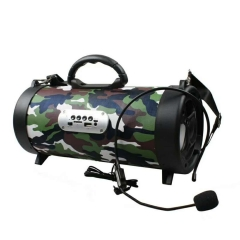 KiliFun Collection Backpack Portable Bluetooth Loudspeaker with Headband Microphone/Colorful Light Camouflage 5w K07