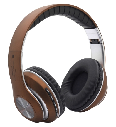 KiliFun Collection V33 Sports Wireless Bluetooth Headphone FM Stereo Bass Beats Radio MP3 Player Brown