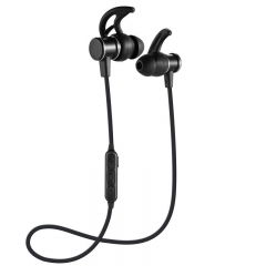 KiliFun Collection SLS-100 Magnetic Metal Earphone Waterproof HD Stereo Noise Reduction Earbuds black