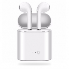 KiliFun Collection i7S Wireless Bluetooth Earphone 2Earbuds Stereo with colorful Chargable box white