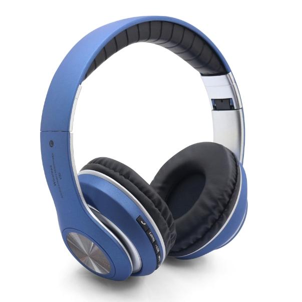 KiliFun Collection V33 Sports Wireless Bluetooth Headphone FM Stereo Bass Beats Radio MP3 Player blue