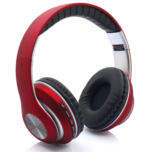 KiliFun Collection V33 Sports Wireless Bluetooth Headphone FM Stereo Bass Beats Radio MP3 Player red